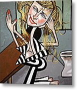 Paris Hilton You Been Cubed Metal Print
