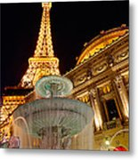Paris Hotel And Casino In Las Vegas Metal Print