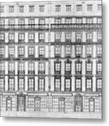 Paris Houses, 1841 Metal Print