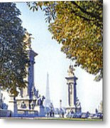 Paris In The Fall 1954 Metal Print by Chuck Staley