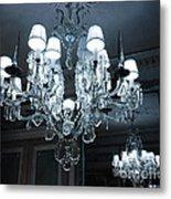 Paris Laduree Sparkling Crystal Chandelier - Laduree Chandelier Art Metal Print
