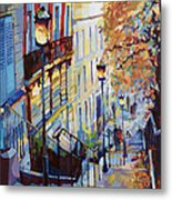 Paris Monmartr Steps Metal Print