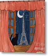 Paris Moonlight Metal Print