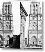 Paris Notre Dame, C1860 Metal Print