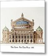 Paris Opera - 1875 Metal Print