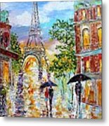 Paris Romance Metal Print