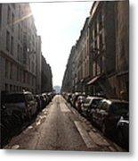 Paris Side Street Metal Print