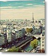Paris Skyline France. Eiffel Tower Metal Print