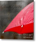 Paris Spring Rains Metal Print