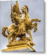Paris Statue Metal Print
