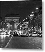Paris Street Metal Print