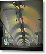 Paris Subway Tunnel Metal Print
