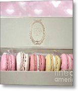 Paris Macarons Laduree Tea Shop Patisserie - Dreamy Laduree Box Of French Macarons - Paris Macarons Metal Print