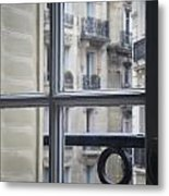 Paris Window Metal Print