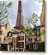 Parisian Icon Metal Print