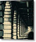 Parisian Rail Arches Metal Print