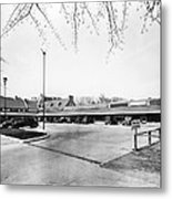 Park & Shop Early Strip Mall Metal Print