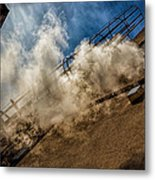 Park Alley Steam Metal Print