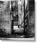 Park Alley Sunset Metal Print by Bob Orsillo