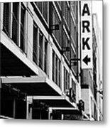 Park... Bw... Detroit Metal Print