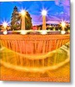 Park Fountain Metal Print