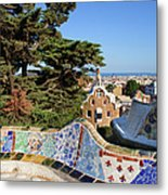 Park Guell In Barcelona Metal Print
