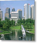 Park In The City, Petronas Twin Towers Metal Print