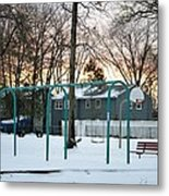 Park In Winter Metal Print