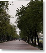 Park Leading To The King Of Thailands Palace Metal Print