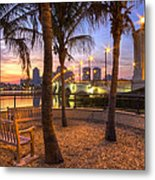 Park On The West Palm Beach Wateway Metal Print