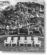 Park Under The Oaks Metal Print by Debra and Dave Vanderlaan