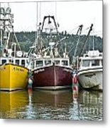 Parked Fishing Boats Metal Print