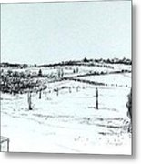 Parked Tractor  Metal Print