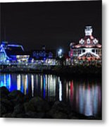 Parker's Lighthouse Reflections Metal Print