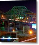 Parkersburg Belpre Bridge Metal Print
