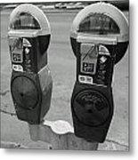 Parking Meters Metal Print