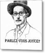 Parlez-vous Joyce Metal Print
