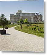 Parliament At Summer Bucharest Metal Print