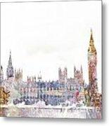 Parliament Color Splash Metal Print