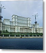 Parliament In Bucharest Metal Print