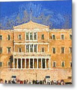 Parliament Of Athens Metal Print