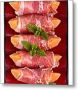Parma Ham And Melon Metal Print