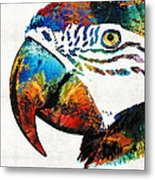 Parrot Head Art By Sharon Cummings Metal Print