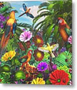 Parrot Jungle Metal Print