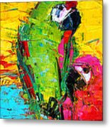 Parrot Lovers Metal Print