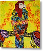 Parrot Oshun Metal Print