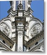 Part Of The Crown - Palace Chambord - France  Metal Print