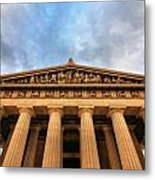 Parthenon From Below Metal Print by Dan Sproul