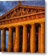 Parthenon On A Stormy Day Metal Print
