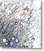 Particles In Motion Metal Print